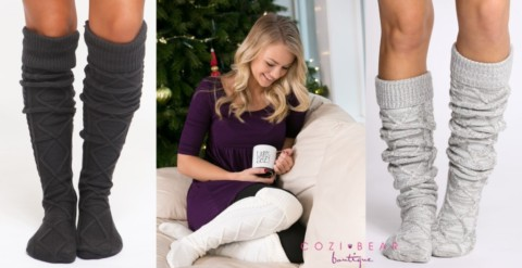 Thigh High Cable Knit Socks | Stocking Stuffer! #BlackFriday